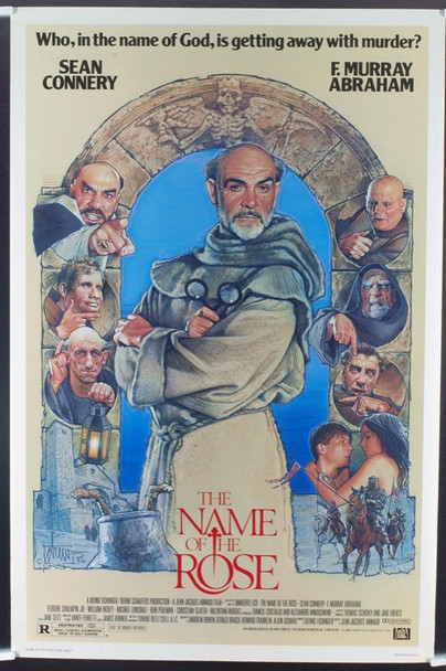 NAME OF THE ROSE, THE (1986) 19805 Original 20th Century-Fox One Sheet Poster (27x41). Rolled. Fine Plus Condition.