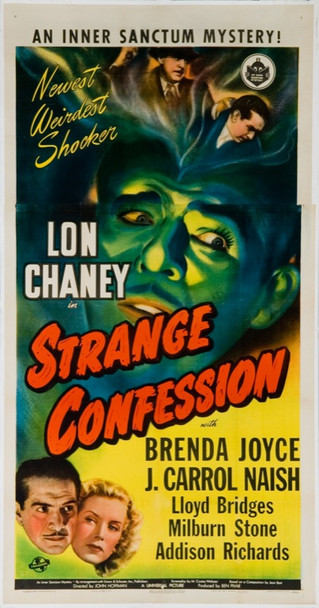 STRANGE CONFESSION (1945) 19949 Original Universal Pictures Three Sheet Poster (41.5x79). Linen-backed. Fine condition.