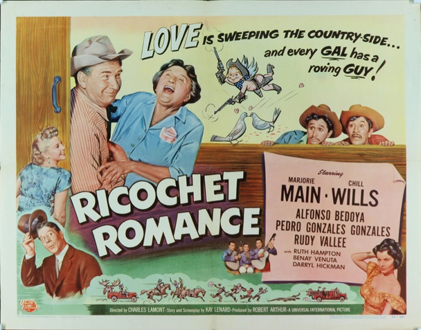 RICOCHET ROMANCE (1954) 6166 Original Universal Pictures Half Sheet Poster (22x28). Folded. Very fine condition.