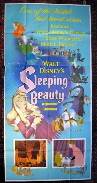 SLEEPING BEAUTY (1959) 6389 Original Walt Disney Productions Three Sheet Poster (41x81). Folded. Very fine condition.