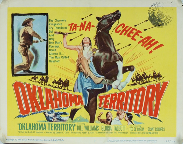 OKLAHOMA TERRITORY (1960) 20146 Original United Artists Title Lobby Card (11x14). Very good condition.