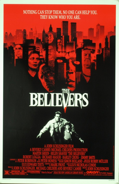 BELIEVERS, THE (1987) 20400 Original Orion Pictures One Sheet Poster (27x41). Never folded. Very fine condition.
