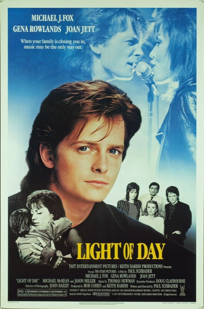 LIGHT OF DAY (1987) 20411 Original TriStar Pictures One Sheet Poster (27x41).  Rolled. Near mint condition.