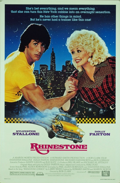 RHINESTONE (1984) 20419 Original 20th Century Fox One Sheet Poster (27x41).  Rolled.  Very Fine Condition.