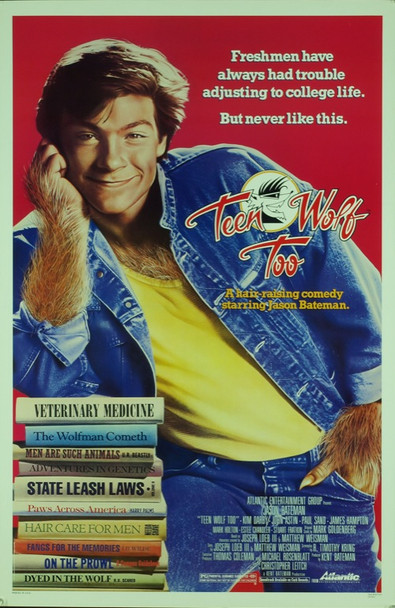 TEEN WOLF TOO (1987) 20425 Original Atlantic Releasing Corporation One Sheet Poster (27x41).  Rolled.  Very Fine Plus Condition.