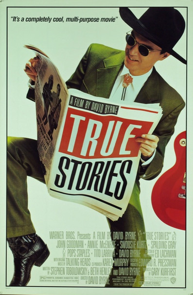 TRUE STORIES (1986) 20428 Original Warner Brothers One Sheet Poster (27x41).  Rolled.  Near Mint Condition.