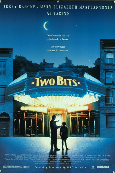 TWO BITS (1995) 20429 Original Miramax Films One Sheet Poster (27x41). Rolled.  Very fine condition.