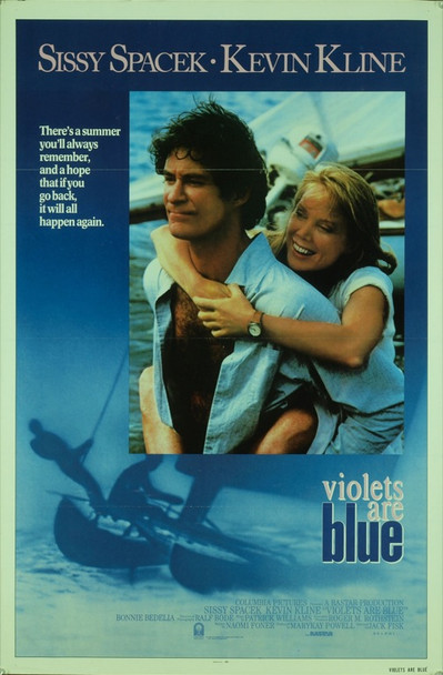 VIOLETS ARE BLUE (1986) 20430 Original Columbia Pictures One Sheet Poster (27x41). Folded.  Fine condition.
