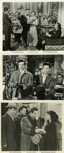 GREAT CARUSO, THE (1951) 20454 Original Studio Silver Gelatin Prints (8x10)  Three Individual Photographs