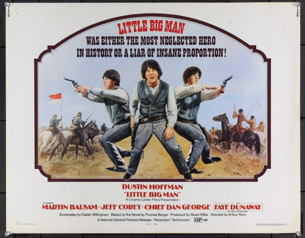 LITTLE BIG MAN (1970) 20456 Original National General Pictures Half Sheet Poster (22x28).