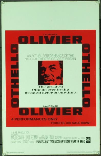 OTHELLO (1965) 20488 Original Warner Brothers Window Card (14x22). Fine plus condition.