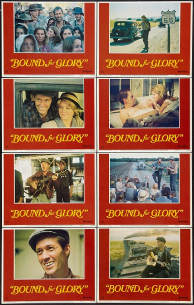 BOUND FOR GLORY (1976) 21190 U.S. Lobby card set. Very Fine Plus.