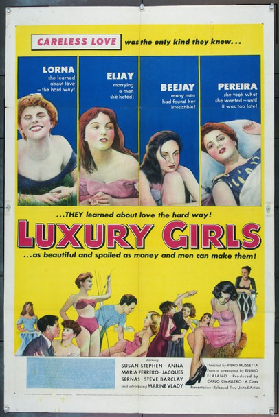 LUXURY GIRLS (1953) 3559 Original United Artists One Sheet Poster (27x41).  Very Good Condition.