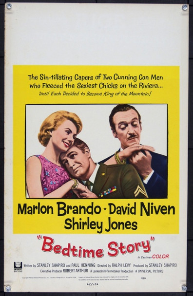 BEDTIME STORY (1964) 19811 Original Universal Pictures Window Card (14x22).  Very fine.