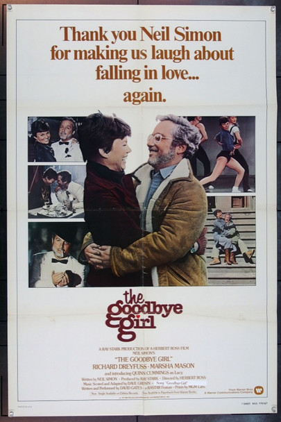 GOODBYE GIRL, THE (1977) 1962 Warner Brothers Original One Sheet Poster (27x41).  Folded.  Fine Plus Condition