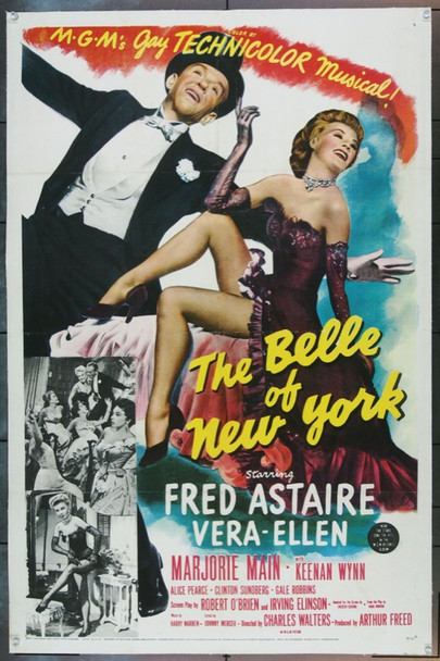BELLE OF NEW YORK, THE (1952) 9572 Original MGM One Sheet Poster (27x41). Linen-backed. Very Fine Condition.