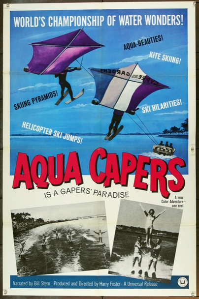 AQUA CAPERS ( ) 3379 Universal Short Subject One Sheet Poster (27x41).  Folded.  Very Fine