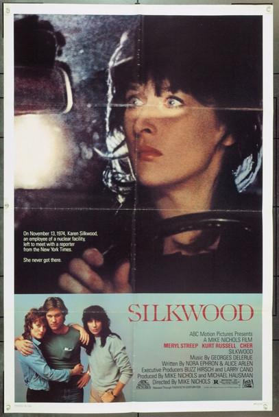 SILKWOOD (1983) 1525 Original 20th Century Fox One Sheet Poster.  (27x41) Folded.  Fine Plus