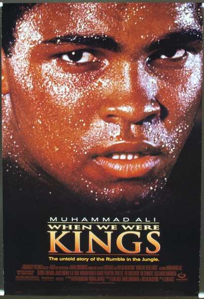 WHEN WE WERE KINGS (1996) 19795 Original Gramercy Pictures One Sheet Poster (27x41).  Rolled.  Very Fine Plus Condition.