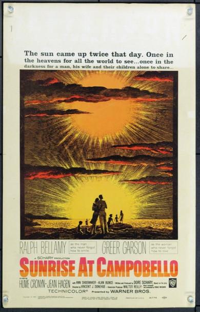 SUNRISE AT CAMPOBELLO (1960) 21936 Original Window Card (14x22) Unfolded