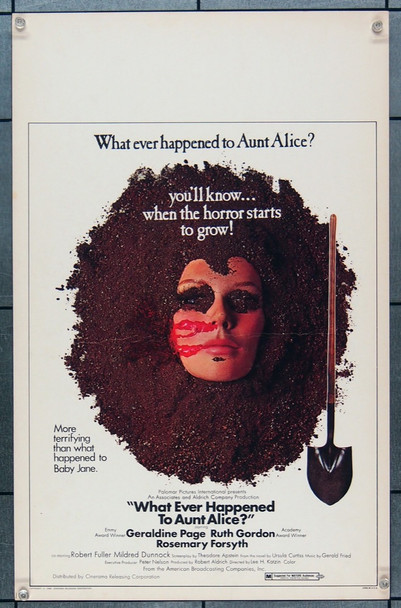 WHATEVER HAPPENED TO AUNT ALICE? (1969) 21944 Window Card.  (14x22)  Very Fine.