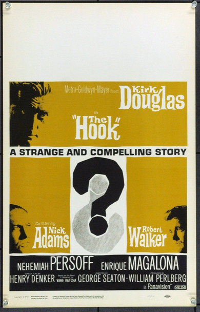 HOOK, THE (1962) 22176 MGM Window Card.  (14x22)  Very Fine.