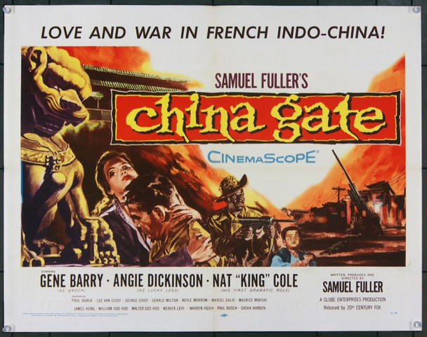 CHINA GATE (1957) 23254 Original 20th Century-Fox Half Sheet Poster (22x28).  Very Fine.