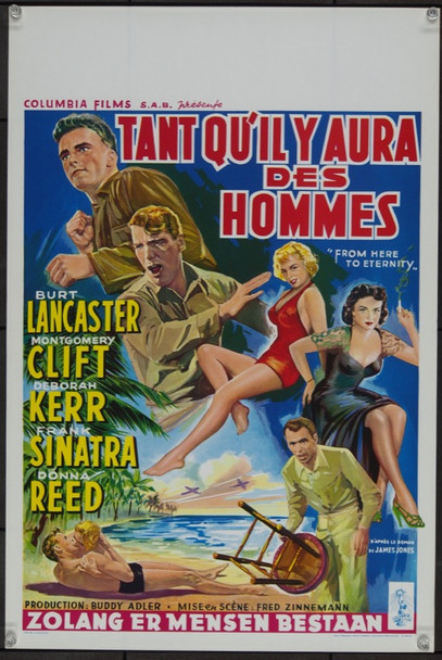 FROM HERE TO ETERNITY (1953) 23250 Original Belgium Poster (15x22).  Unfolded.  Near Mint.