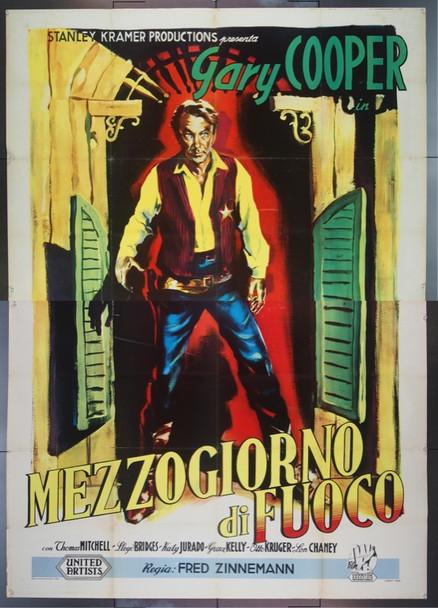 HIGH NOON (1952) 23301 Original Italian 79x55.  Fine Plus.