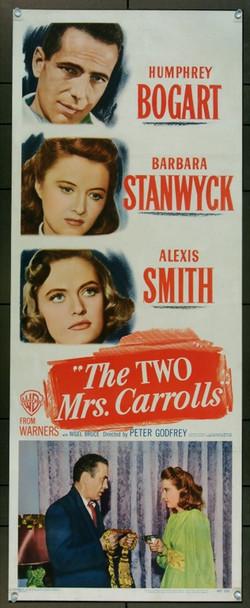 TWO MRS. CARROLLS, THE (1947) 4488 Warner Brothers Original Insert (14x36) Paper Backed.  Fine Plus, restored.