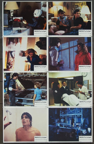FRIDAY THE 13TH - THE FINAL CHAPTER (1984) 17706 Paramount Lobby card Set.  Fine Plus Condition.