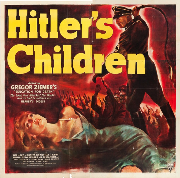 HITLER'S CHILDREN (1942) 22518 Original RKO Six Sheet Poster (81x81).  Folded.  Fine Plus.