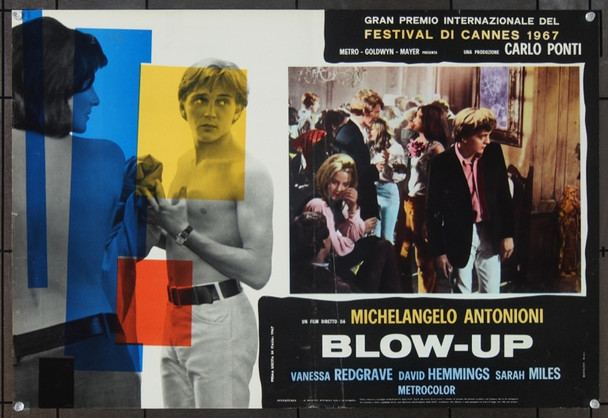 BLOW-UP (1966) 23409 Original MGM Italian Fotobuste (18x27).  Folded.  Fine Plus.