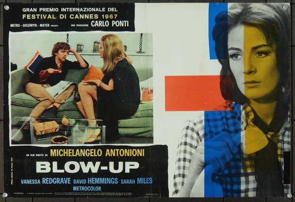 BLOW-UP (1966) 23411 Original MGM Italian Fotobuste (18x27).  Folded.  Fine Plus.