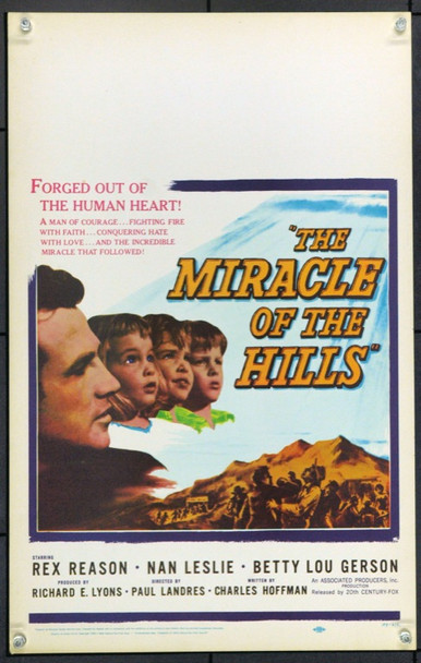 MIRACLE OF THE HILLS, THE  (1959) 21897 Original 20th Century-Fox Window Card (14x22).  Unfolded.  Very Fine.