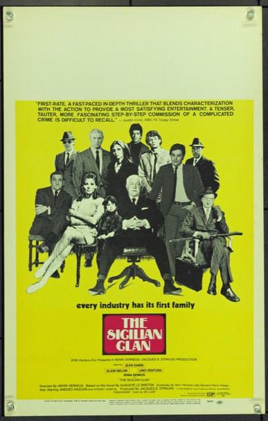 Sicilian Clan, The (1969) 21931 Original 20th Century-Fox Window Card (14x22).  Unfolded.  Very Fine.