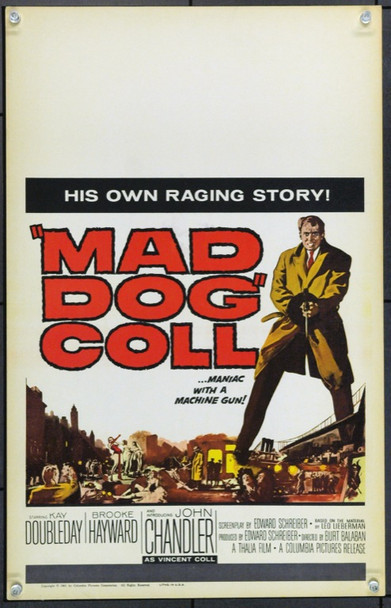 MAD DOG COLL (1961) 21889 Original Columbia Pictures Window Card (14x22).  Unfolded.  Very Fine.