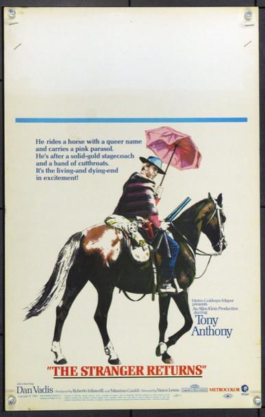 STRANGER RETURNS, THE (1967) 21935 Original MGM Window Card (14x22).  Unfolded.  Very Fine.