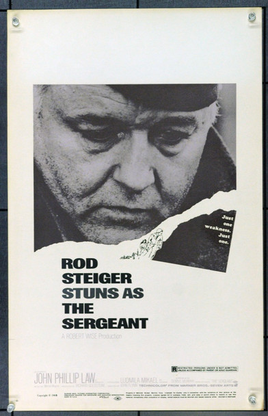 SERGEANT, THE (1968) 21929 Warner Brothers Original U.S. Window Card Poster  (14x22)  Very Fine Condition