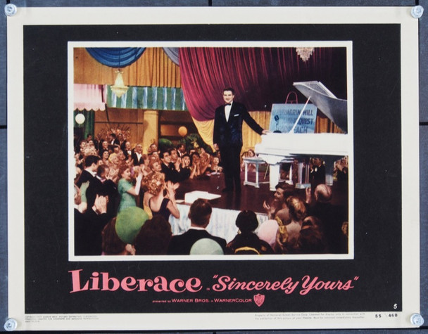 SINCERELY YOURS (1955) 22442 Warner Brothers Original Lobby Card (11x14) Very Fine.  Liberace.