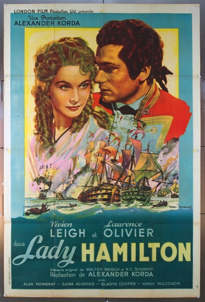 THAT HAMILTON WOMAN (1941) 23564 Original French One Panel Poster (47x63).  Folded.  Very Fine.