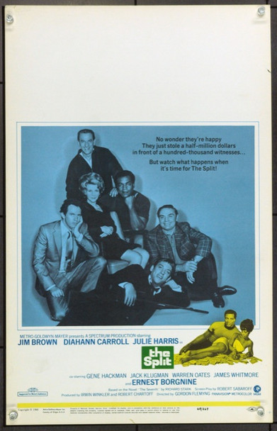 SPLIT, THE (1968) 21934 Original MGM Window Card (14x22).  Unfolded.  Very Fine.