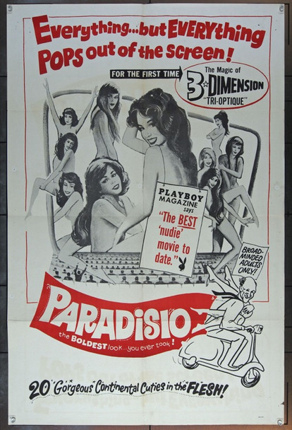 PARADISIO (1961) 11995 Original Fanfare Films One Sheet Poster (27x41).  Folded.  Very Good Condition.
