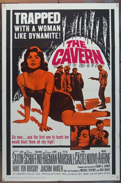 CAVERN, THE (1965) 11992 20th Century Fox One Sheet   27x41  Folded.  Fine Condition.