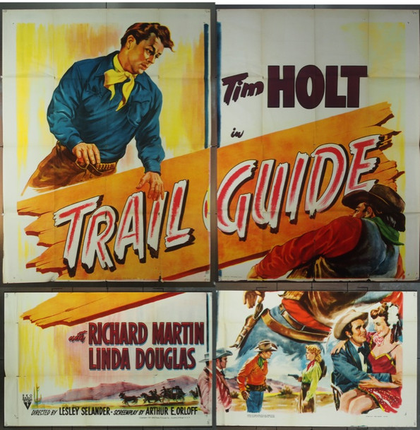 TRAIL GUIDE (1952) 9940 RKO Six Sheet Poster.  81 x 81.  Printed on Four Panels.  Good Condition