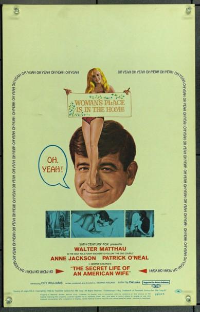 SECRET LIFE OF AN AMERICAN WIFE, THE (1968) 21927 Original 20th Century-Fox Window Card (14x22).  Unfolded.  Very Fine.