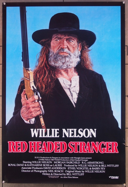 RED HEADED STRANGER (1986) 6822 Panagea Films One Sheet Poster.   27x41.   Rolled.  Very Fine, Rolled