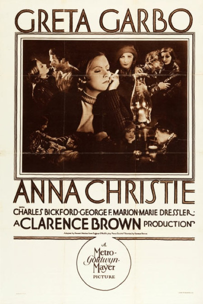 ANNA CHRISTIE (1930) 23077 Original MGM Style B Rotogravure One Sheet Poster (27x41).  Folded.  Very Fine Condition.