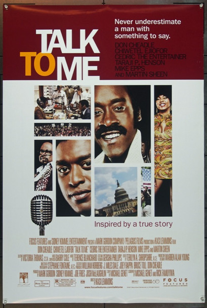 TALK TO ME (2007) 20654 Original Focus Features One Sheet poster (27x40). Double sided. Rolled. Very Fine Plus.