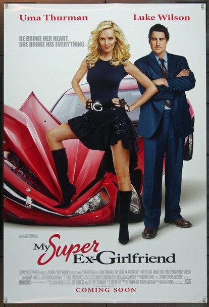 MY SUPER EX-GIRLFRIEND (2006) 20675 Original 20th Century-Fox One Sheet Poster (27x41). Double-sided. Unfolded. Very Fine Plus.